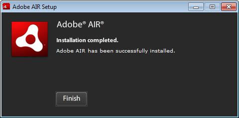 Adobe Air Installation Complete