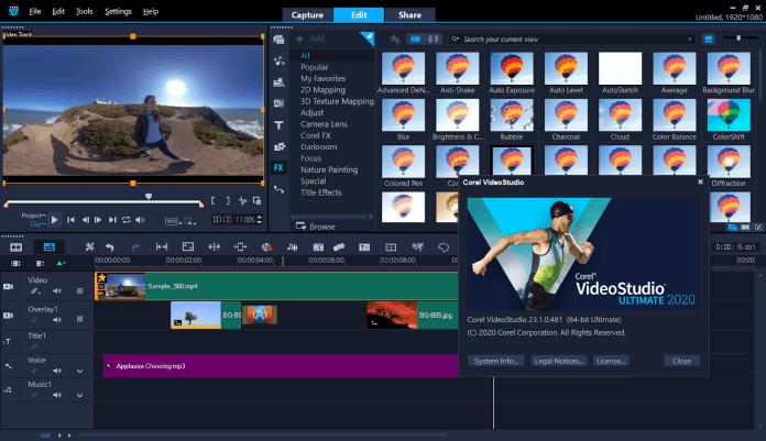 Corel VideoStudio Ultimate 2020 Edit Effects