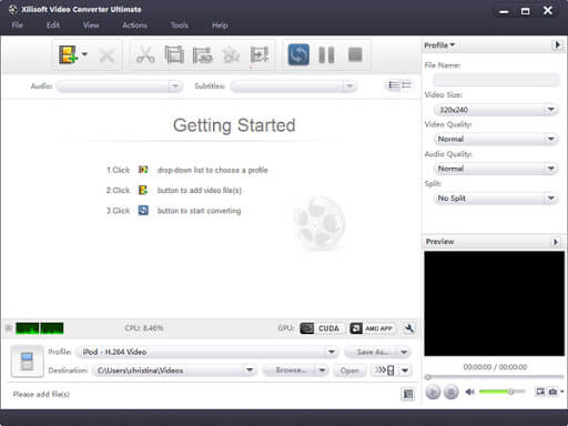 Xilisoft video converter ultimate to convert video for ipod