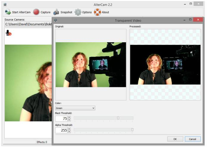 Chromakey With Your Webcam