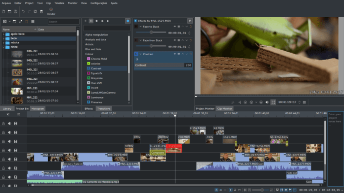 Kdenlive Video Editing Effects