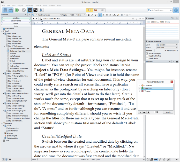 scrivener Tutorial For Word Processing Tool
