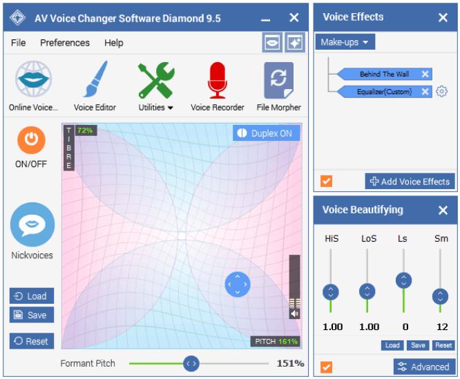 AV Voice Changer Software Main Window