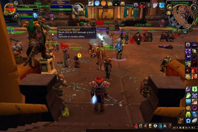 World of Warcraft currpted blood