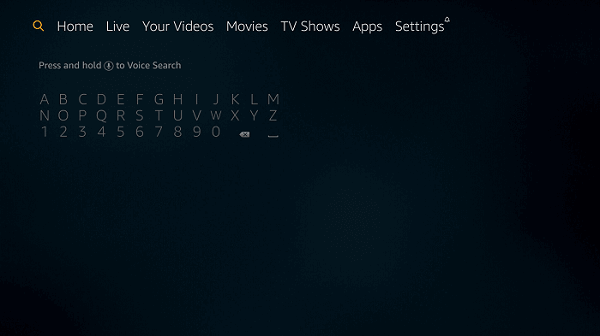 FireStick-search-menu