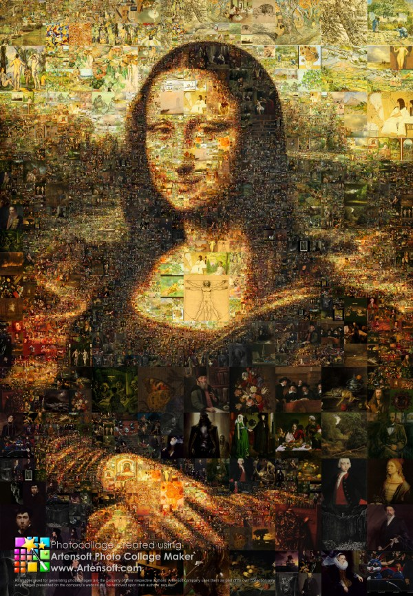 Mona Lisa Mosaics Collages