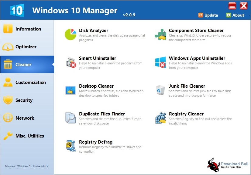 Download Yamicsoft Windows 10 Manager Portable