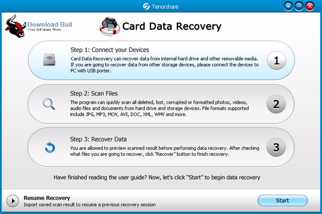 Download Tenorshare Card Data Recovery 4.6 Portable Free