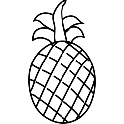 Pineapple Outline PNG SVG Clip art for Web Download Clip Art PNG Icon Arts