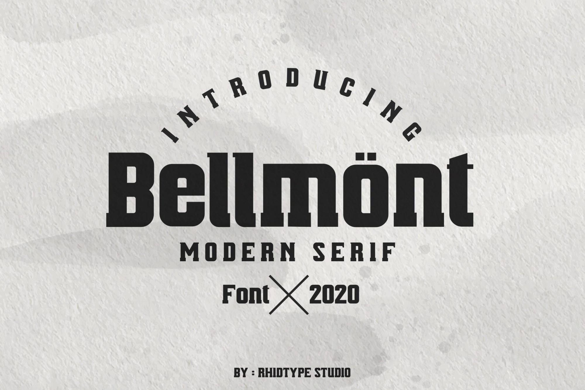 Bellmont-Modern-Serif-Typeface
