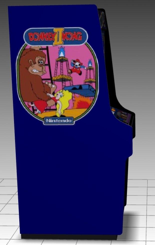 Donkey Kong II  Upright Arcade Machine  DownloadFree3Dcom