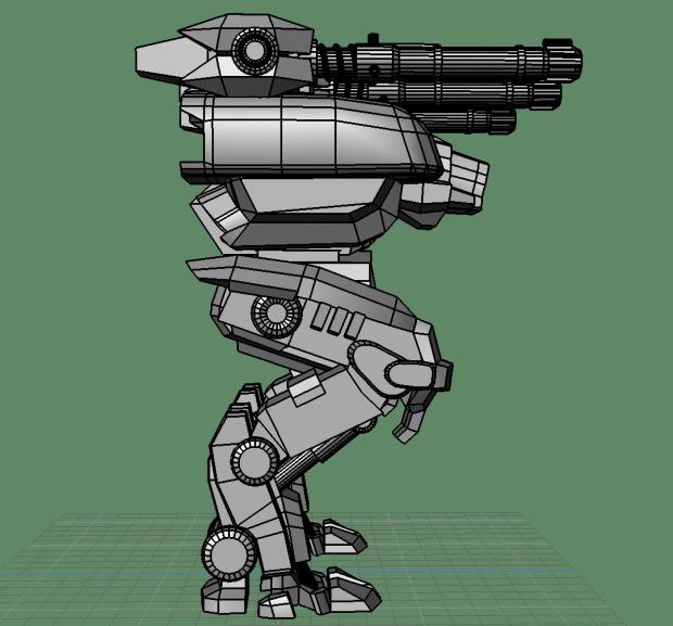 Fury war robot  DownloadFree3Dcom