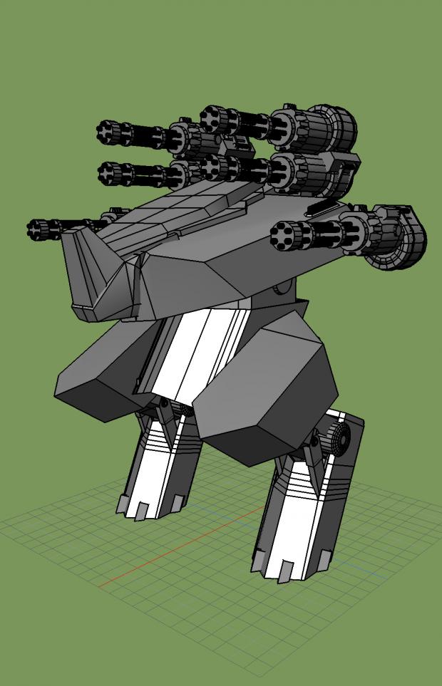 Rhino war robot  Free 3D models
