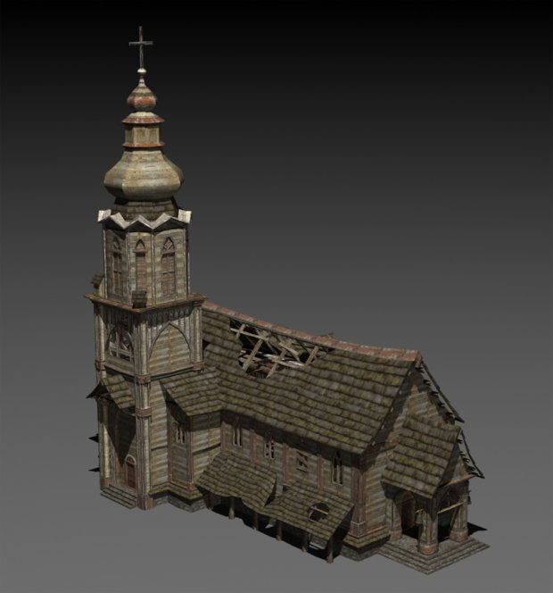 Abandoned Church Free 3D Models