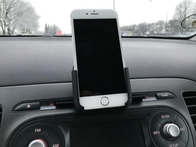 Iphone 66S car holder  CD mount  Free 3D models