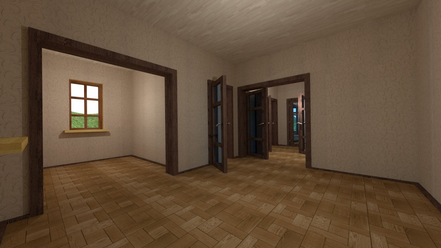 House for an interior D095 Empty rooms  DownloadFree3Dcom