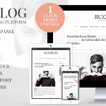 BuzzBlog v2.5 – Clean and Personal WordPress Blog Theme Nulled