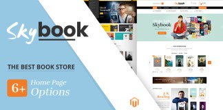 SkyBook v1.0 - Book Shop Responsive Magento Theme Nulled Free
