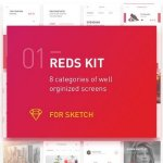 REDS UI Kit CreativeMarket 1255568