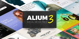 ALIUM 3 | Social Media Pack CreativeMarket 1332545