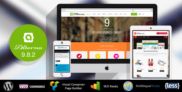 Alterna v9.8.2 - Ultra Multi-Purpose WordPress Theme Nulled
