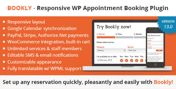 Bookly Booking Plugin v13.0 – Responsive Appointment Booking and Scheduling