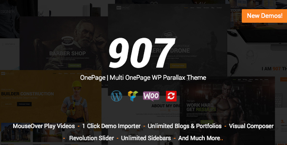 907 v4.0.21 – Responsive WP One Page Nulled Free