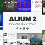 ALIUM 2 | Social Media Pack CreativeMarket 1315858