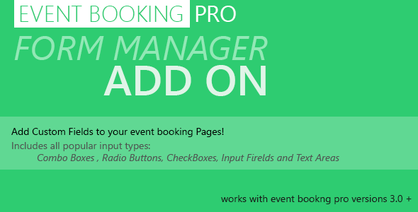 Forms Manager v1.8.0 – Event Booking Pro Add-on