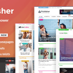 Publisher v1.7.7 – Magazine, Blog, Newspaper and Review WordPress Theme Nulled Free