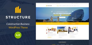 Structure v4.1.2.1 - Construction WordPress Theme Nulled Free