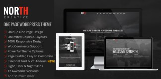 North v3.4.0 - One Page Parallax WordPress Theme Nulled Free