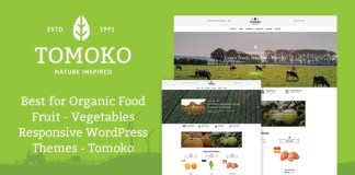 Organic Food/Fruit/Vegetables v1.0 Tomoko Responsive WordPress Theme