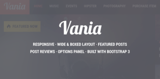 Vania v1.8 - Responsive WordPress News Theme Nulled
