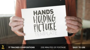 Videohive Hands Holding Pictures 13748637