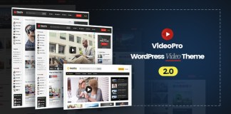 VideoPro v2.0.5.6 - Video WordPress Theme Nulled