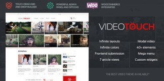 VideoTouch v1.8.2 - Video WordPress Theme Nulled