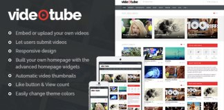 Download VideoTube v2.3 - A Responsive Video WordPress Theme Free WordPress Blog / Magazine Template