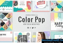 Mini Color Pop Social Media Pack 1585776 | Creativemarket