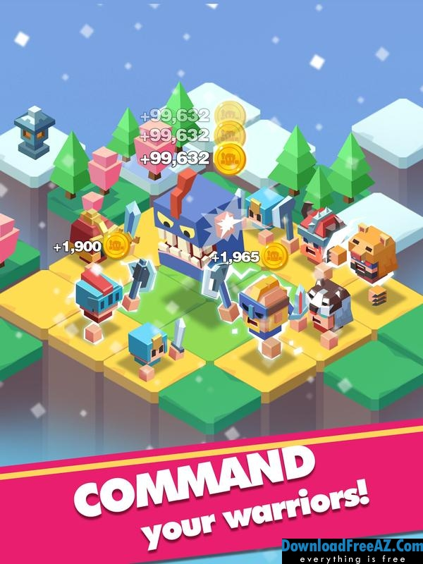 Download Free Merge Warriors – Idle Legion Game + МOD (Free Shopping) For Android