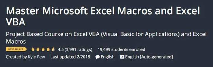 Master Microsoft Excel for Macros and Excel VBA