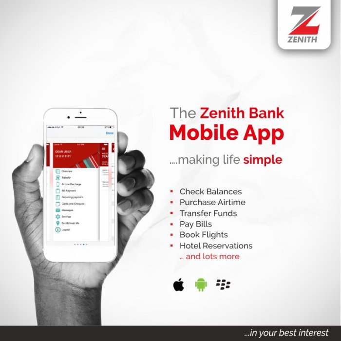 Zenith Bank Mobile App Download