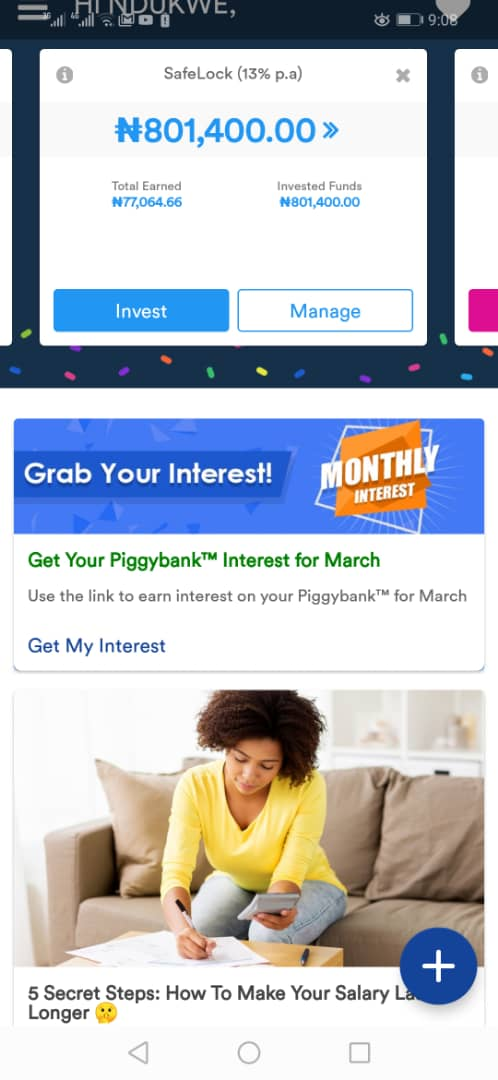 PiggyVest Savings Interest