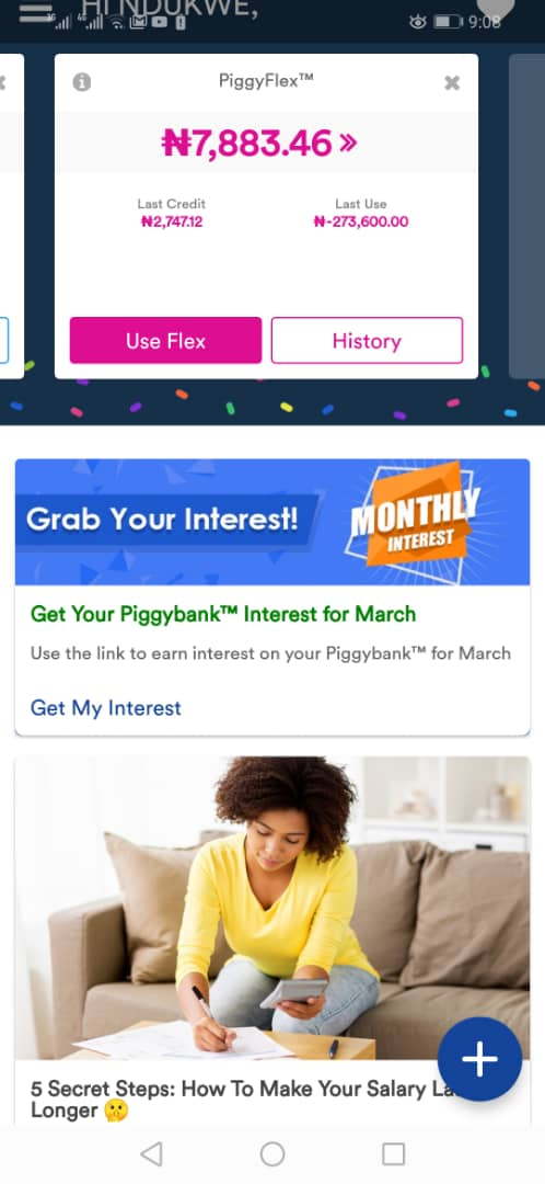 PiggyVest Savings Mobile App