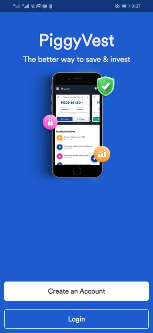 Download PiggyVest Savings Mobile App