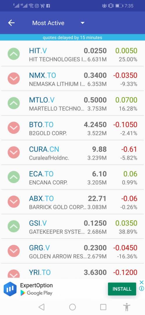 toronto stock market app
