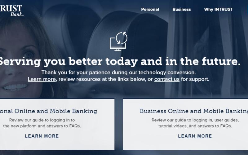 intrust online banking login