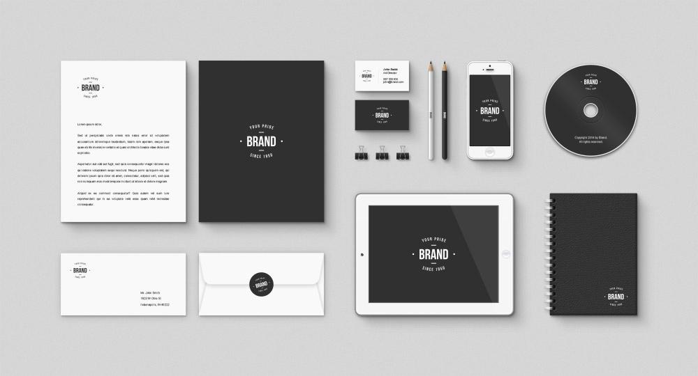 Corporate Brand Identity Free Mockup PSD Kit Download Mockup