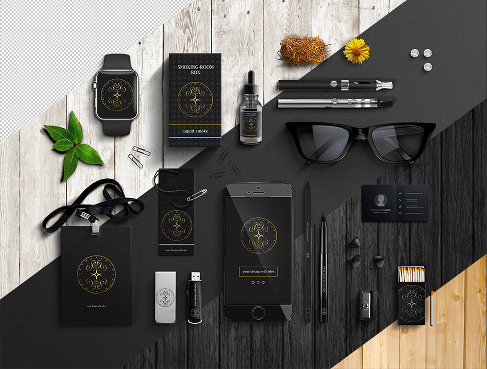 Office Items Branding Mockup Free PSD  Download Mockup