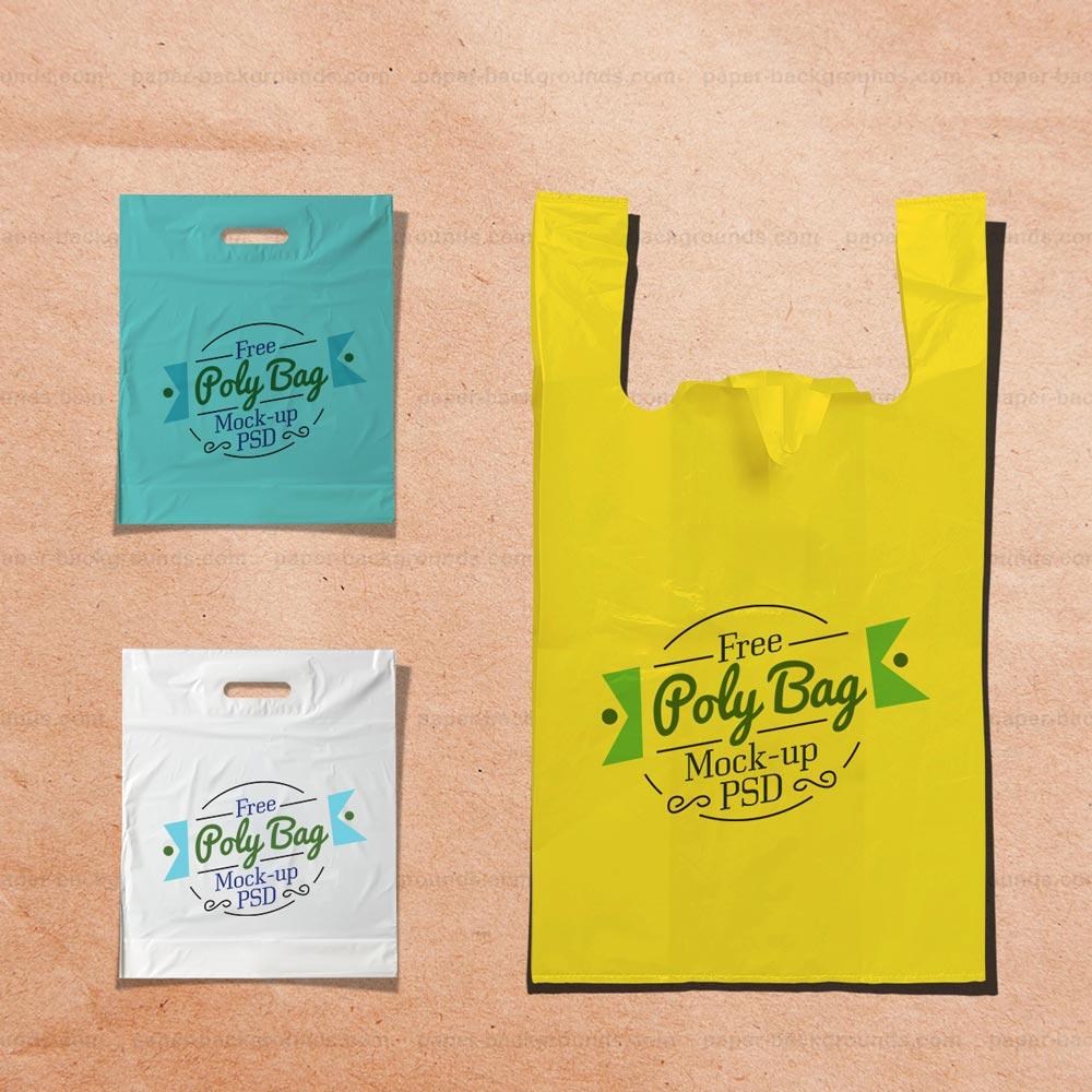 Plastic Poly Bag Mockup Free PSD Free PSD